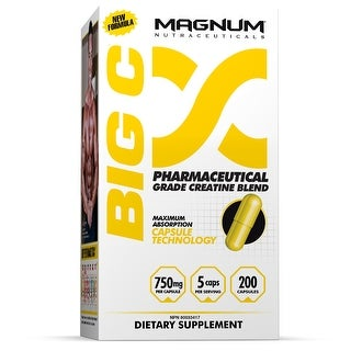 Magnum Nutraceuticals Big C Non-Water Retaining Creatine - 200 Capsules