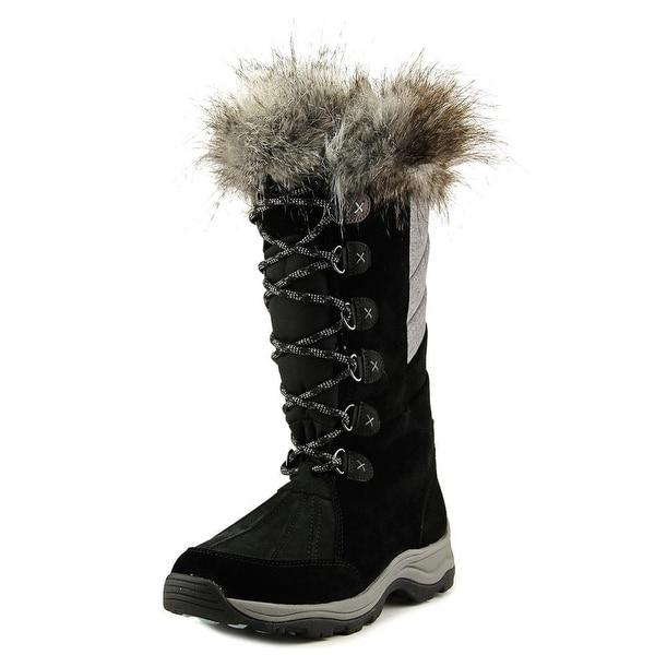 Clarks Wintry Hi Women Round Toe Suede Black Winter Boot