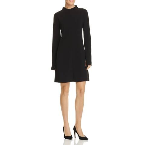 Theory Womens Admiral Shift Dress, Black, 6