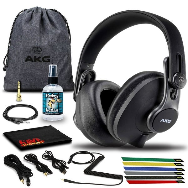AKG K371BT Bluetooth Headphone with Cables, Pouch, Cable Ties, and. Opens flyout.