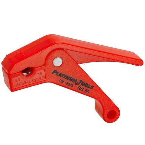 Platinum Tools 15023C SealSmart Coax Stripper for RG59 - Red