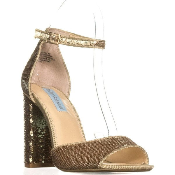 Blue by Betsey Johnson Calie Dress Sandals, Gold