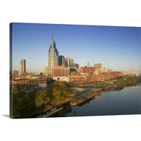 Premium Thick-Wrap Canvas entitled High angle view of buildings in a city, Cumberland River, Nashville, Tennessee