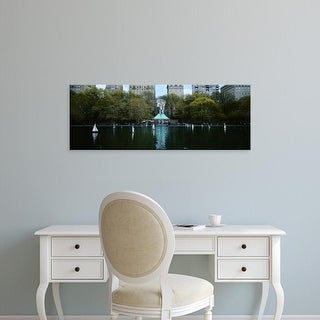 Easy Art Prints Panoramic Images's 'Toy boats floating on water, Central Park, Manhattan, New York City' Canvas Art