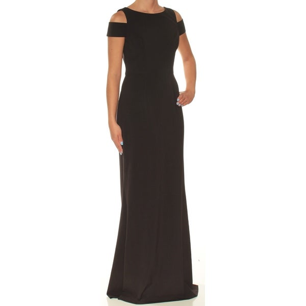 94901f6bddb9a Shop VINCE CAMUTO Womens Black Cold Shoulder Boat Neck Full-Length Fit +  Flare Formal Dress Size: 2 - Free Shipping Today - Overstock - 23455590