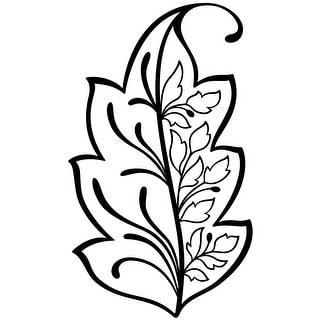 "Magenta Cling Stamps 4.25""X2.5""-Leaf Of Life"