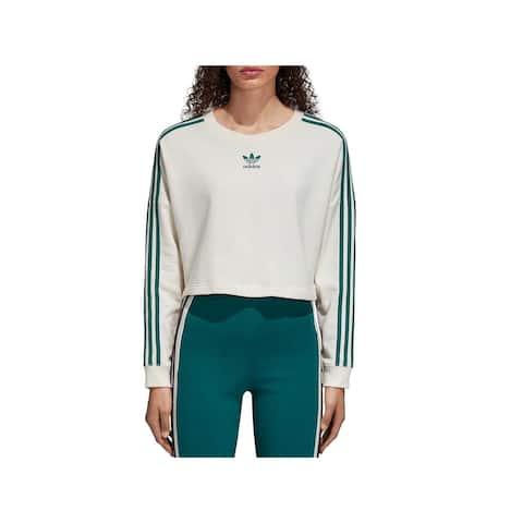 Adidas Womens Sweatshirt Crop Running - L
