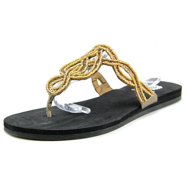 Yellow Box Vasia Women  Open Toe Leather  Thong Sandal