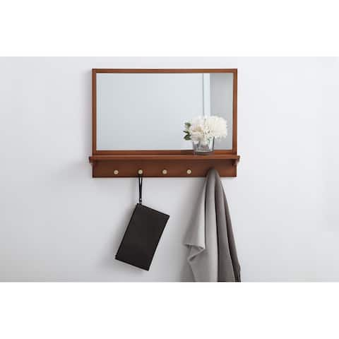 Parker Entryway Mirror with Shelf