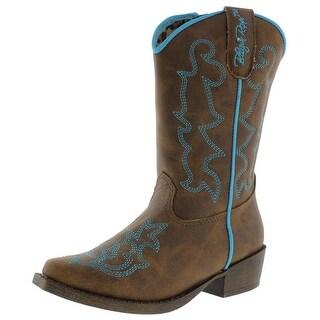 Blazin Roxx Girls Caroline Toddler Faux Leather Cowboy, Western Boots - 10 medium (b,m)