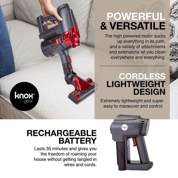 Shop Knox Cordless Vacuum Cleaner & 6 Attachments For Multi