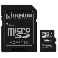 Kingston - microSDHC Flash Memory with SD Adapter 32GB