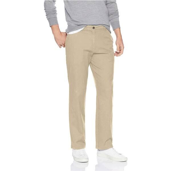 Size 40W x 30L Navy Essentials Men/'s Slim-Fit Casual Stretch Khaki,