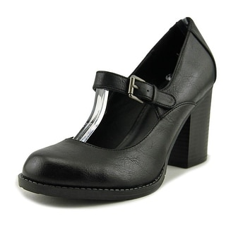 Mia susy Women  Round Toe Synthetic Black Heels