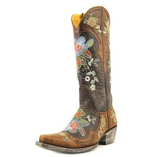 "Old Gringo Bonnie 13"" Women Pointed Toe Leather Brown Western Boot"