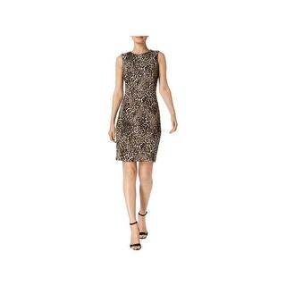 Calvin Klein Womens Petites Cocktail Dress Sleeveless Above Knee