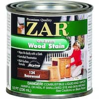 ZAR 12406 Interior Oil-Based Wood Stain, Rosewood, 1/2 Pint