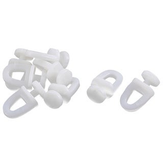 Unique Bargains Plastic Window Curtain Track Rail Carrier Glide Rollers White 23mm Height 8 Pcs