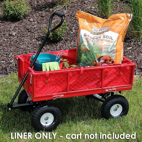 Sunnydaze Outdoor Garden Utility Cart Liner - Red - Includes Liner Only