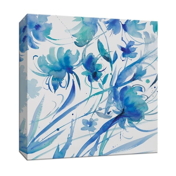 """PTM Images 9-147204 PTM Canvas Collection 12"""" x 12"""" - """"Whimsical Blues II"""" Giclee Flowers Art Print on Canvas"""