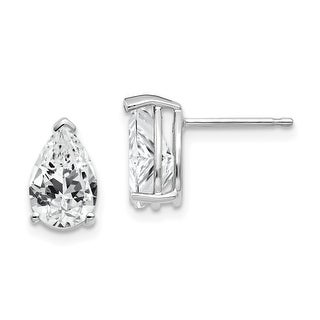 Link to 14K White Gold 9x6mm Pear Cubic Zirconia Earrings by Versil Similar Items in Earrings