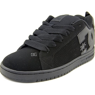 DC Shoes Court Graffik Men Round Toe Suede Black Skate Shoe