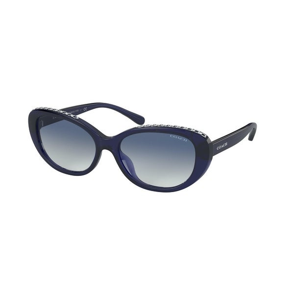 Coach HC8296U 54504L 56 Navy Woman Oval Sunglasses. Opens flyout.
