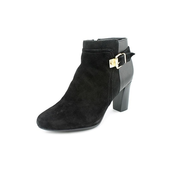 Alfani Dadine Women Round Toe Suede Black Ankle Boot