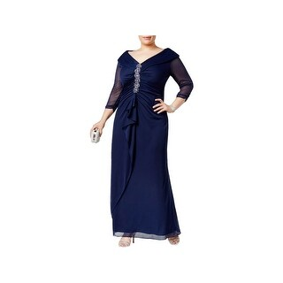 Alex Evenings Womens Plus Evening Dress Full-Length Embellished