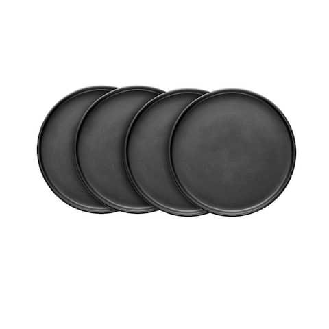 Stone Lain Stoneware Round Dinner Plates Set Of 4, Coupe Matte