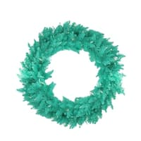 "48"" Pre-Lit Seafoam Ashley Spruce Christmas Wreath - Clear & Green Lights"