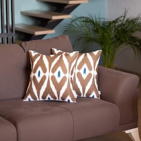 """Mike & Co. Ikat Printed Throw Pillow Cover 18""""x18"""" Set of 2"""