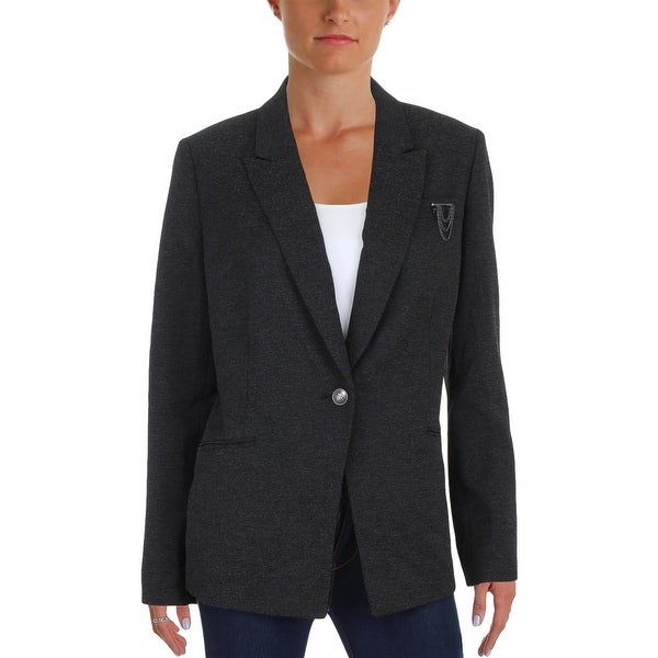 c8209d7eec4f Shop Tahari ASL Womens One-Button Blazer Textured Embellished - 12 - Free  Shipping Today - Overstock.com - 23440782