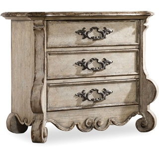 """Hooker Furniture 5350-90017  37"""" Wide 3 Drawers Hardwood Nightstand from the Chatelet Collection - Paris Vintage"""