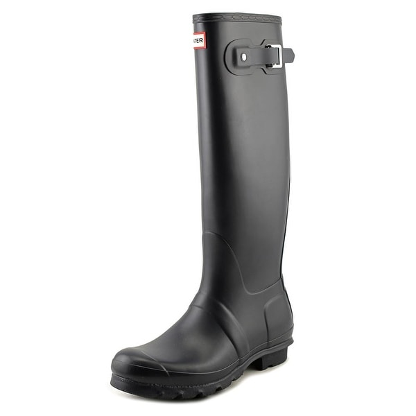 Hunter Original Tall Women Round Toe Synthetic Blue Rain Boot