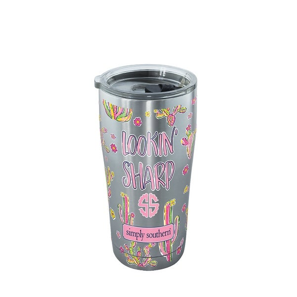 Simply Southern Lookin Sharp Cactus 20 oz Stainless Steel Tumbler with lid