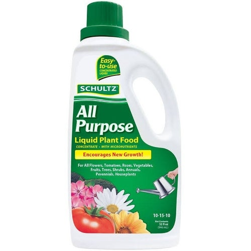 Schultz SPF45180 All Purpose Liquid Plant Food, 32 Oz - 32 Oz (Upholstered) -  Overstock