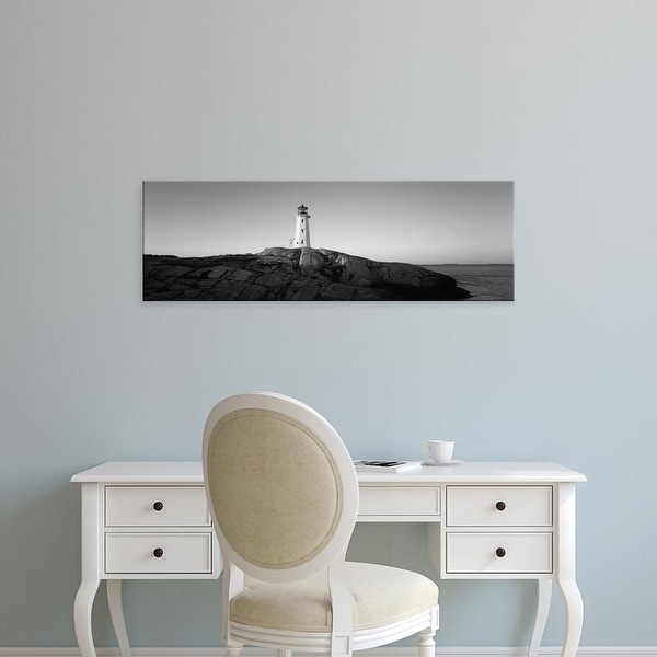 Easy Art Prints Panoramic Image 'Peggy's Point Lighthouse, Peggy's Cove, Halifax, Nova Scotia, Canada' Canvas Art