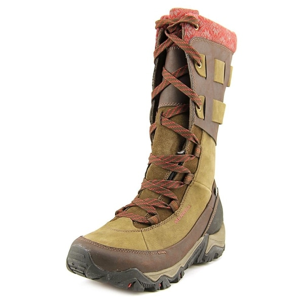 Merrell Polarand Rove Peak Women Round Toe Leather Mid Calf Boot