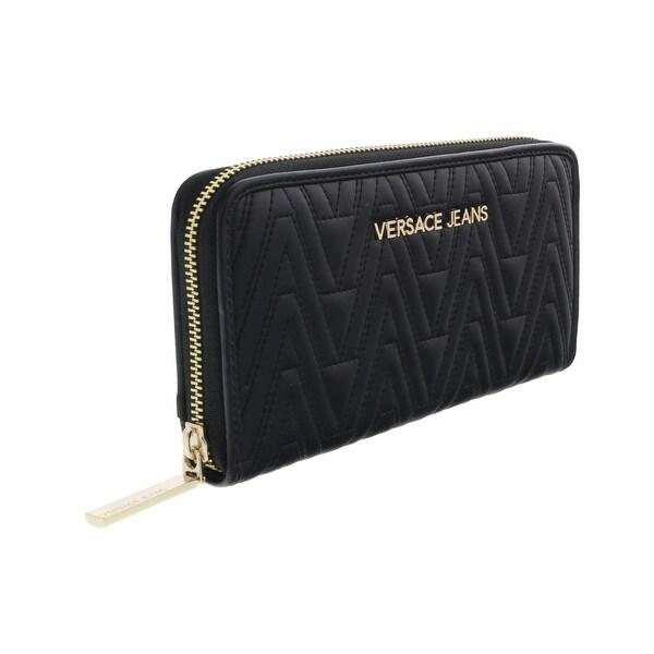 Versace EE3VRBPY2 Black Continental Wallet - 8-4-1