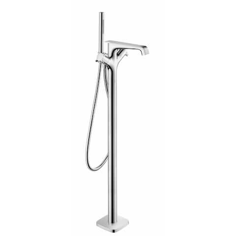Axor 36418 Citterio Floor Mounted Tub Filler with Built-In Diverter and Cross Handles -