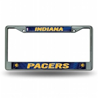Rico Industries RIC- Indiana Pacers NBA Chrome License Plate Frame