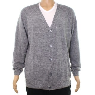 Weatherproof Gray Mens Size Medium M Textured Cardigan Sweater