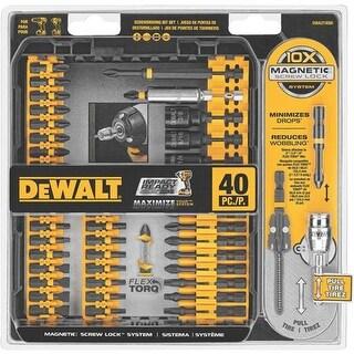 Black & Decker/DWLT 40Pc Imp Ready Scrwddr DWA2T40IR Unit: EACH