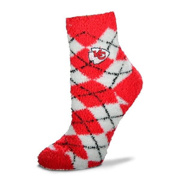 Kansas City Chiefs Argyle Sleep Soft Socks, Medium
