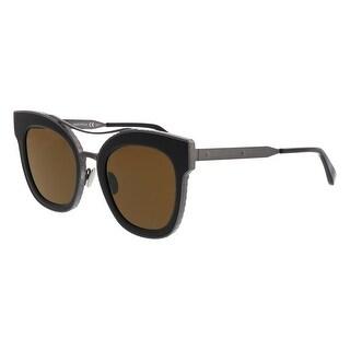 Bottega Veneta BV0012/S 003 Ruthenium-Brown Butterfly Sunglasses