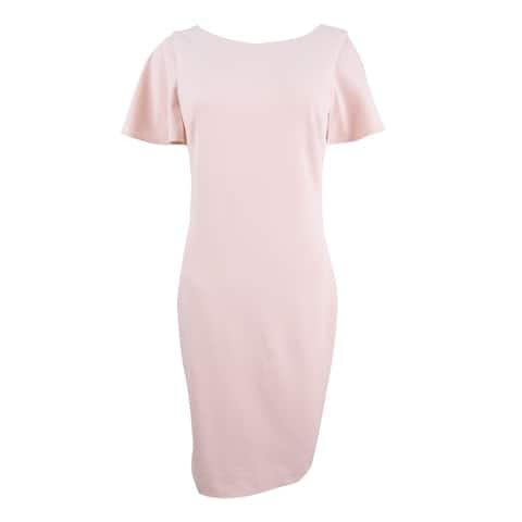 Calvin Klein Women's Capelet Ruffled Dress