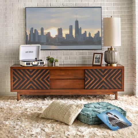 Lifestorey Mason Mid-century Geometric TV Stand