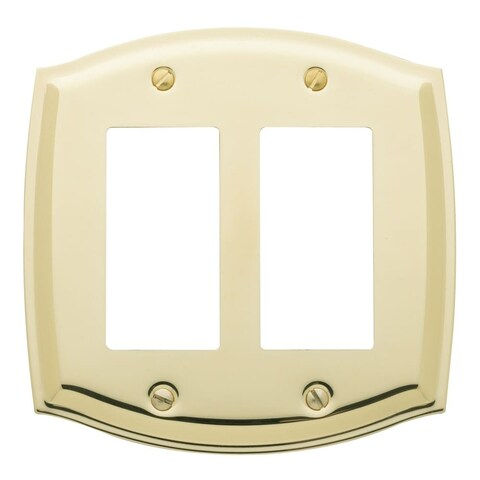 Baldwin 4787 Colonial Style Solid Brass Double GFCI Switchplate - N/A