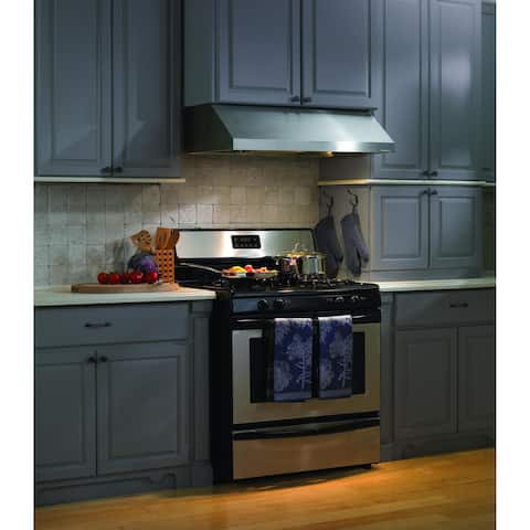 "Vent-A-Hood PRH9-248 600 CFM 48"" Under Cabinet Range Hood with Dual Blowers and Halogen Lights from the Professional Collection"